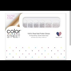 Color street nailpolish strips dripping indiamonds